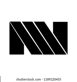 mn letter vector logo. nm letter vector logo