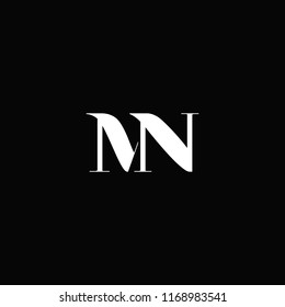 MN logo designed with letter M N in vector format.
