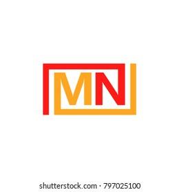 MN Logo Vector Template Design
