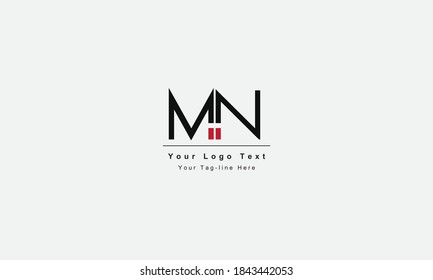 MN or NM letter logo. Unique attractive creative modern initial MN NM M N initial based letter icon logo