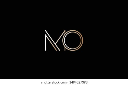 MO Letter Logo Design with Creative Modern Trendy Typography
