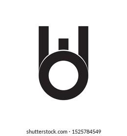 MO letter logo design vector