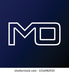 MO letter logo and designs