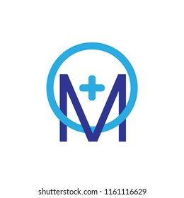 MO logo, OM logo letter with plus