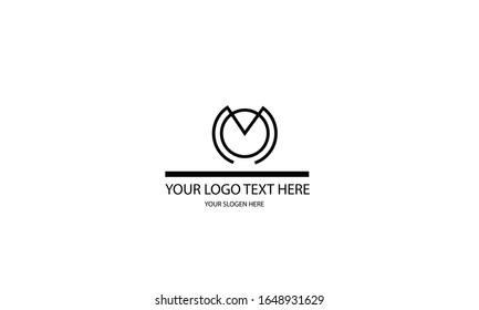 MO OM abstract vector logo monogram template