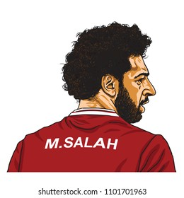 Mo Salah Vector Cartoon Caricature Illustration. May 30, 2018