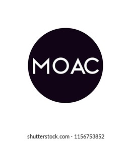 MOAC Crypto currency Altcoin logo vector