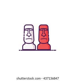 Moai Icon Illustration