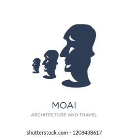 Moai icon. Trendy flat vector Moai icon on white background from Architecture and Travel collection, vector illustration can be use for web and mobile, eps10