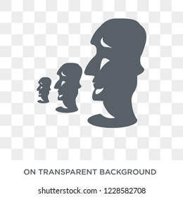 Moai icon. Trendy flat vector Moai icon on transparent background from Architecture and Travel collection. High quality filled Moai symbol use for web and mobile