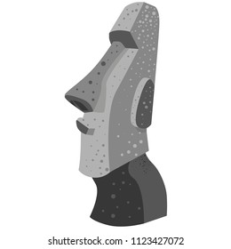 Moai statue vector recreation
