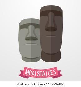 Moai Statues icon on white background