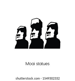 Moai statues icon vector. Linear style sign for mobile concept and web design. Moai statues symbol illustration. Pixel vector graphics - Vector.
