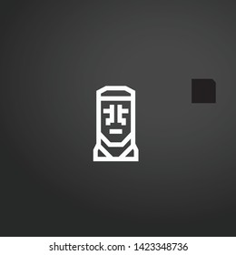 Moai vector icon. Moai concept stroke symbol design. Thin graphic elements vector illustration, outline pattern for your web site design, logo, UI. EPS 10.