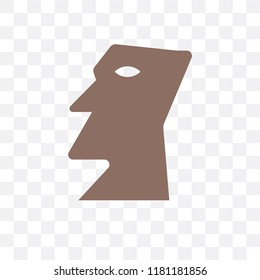 Moai vector icon isolated on transparent background, Moai logo concept