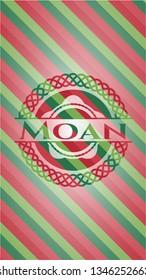 Moan christmas badge background.