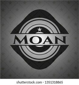 Moan dark icon or emblem