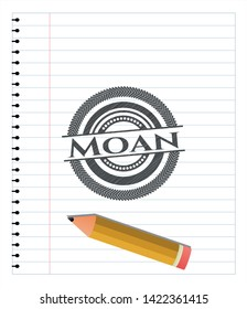 Moan drawn with pencil strokes. Vector Illustration. Detailed.