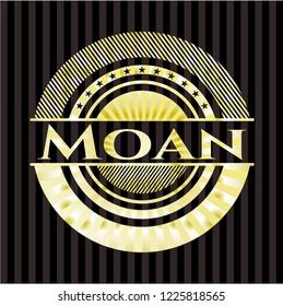 Moan gold emblem or badge