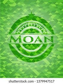 Moan green mosaic emblem