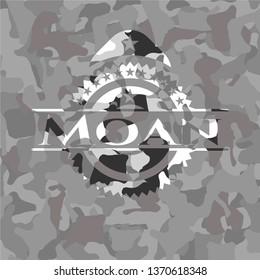 Moan on grey camouflage pattern
