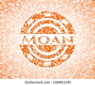 Moan orange mosaic emblem