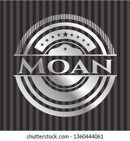 Moan silver shiny emblem