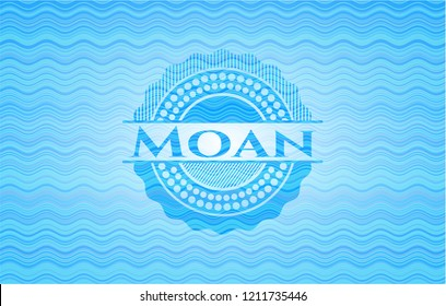 Moan water concept emblem background.