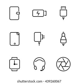 mobile Accessories icons vector set