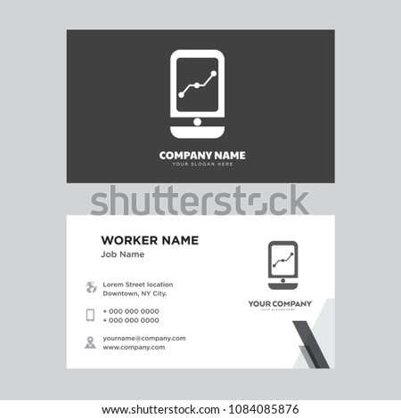 Mobile app business card design template stock vector royalty free mobile app business card design template visiting for your company modern horizontal identity card colourmoves