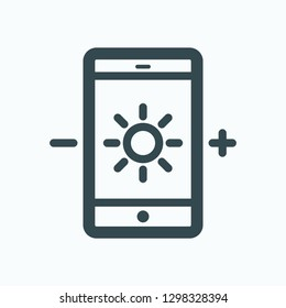 Mobile app control for lights icon, wireless light control vector icon