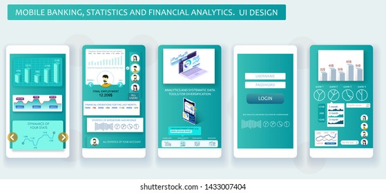 Mobile app design. Banking, payments, remittances and other materials. User interface design.