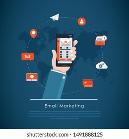 Mobile app - email marketing and promotion