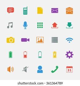 Mobile App icon set 5