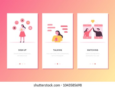 mobile app templates concept vector illustration flat design