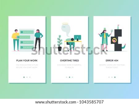 mobile app templates concept vector illustration stock vector