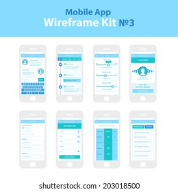 Mobile App Wireframe Ui Kit 3. Chat screen, messages screen, filters screen, manage members screen, search filter screen, schedule meeting screen, compare plans screen, premium plan screen.