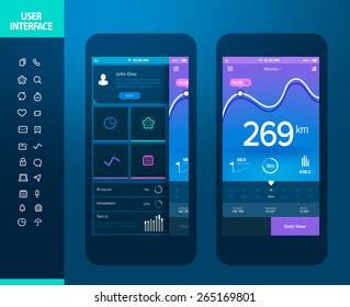 Mobile application interface design