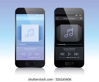 Mobile Application Interface : Music Player : Vector Illustration