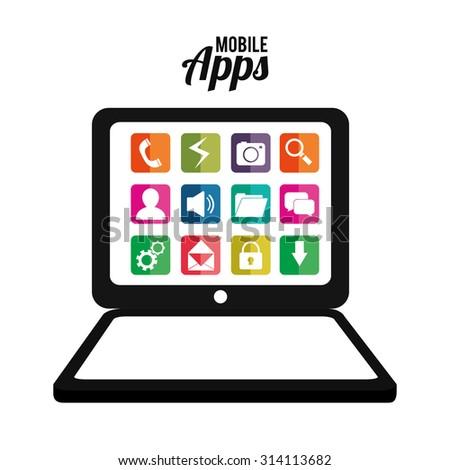 Mobile Applications Shop Entertainment Vector Illustration