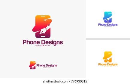 Mobile Art logo template, Phone Designs logo designs vector illustration