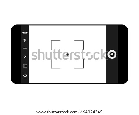 mobile camera interface template background screen のベクター画像