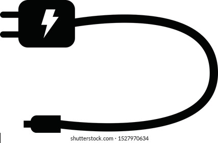 mobile charger icon on white background. flat style. mobile charger sign.