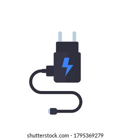 Mobile charger isolated on white, vector