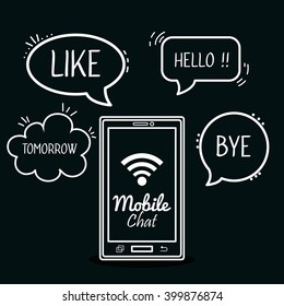 mobile chat design