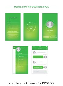 Mobile chat interface design.vector