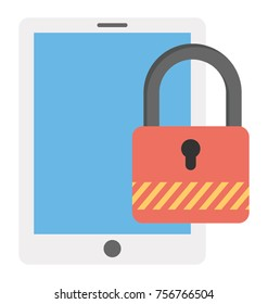 Mobile data being protected by applying security lock