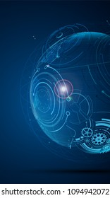 mobile device digital smart tech concept template background eps 10 vector