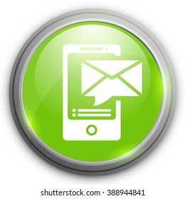 Mobile devices icon sending message.