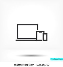 Mobile devices . line vector icon